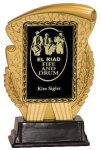 Gold & Black Rectangle Insert Holder Resin Award Achievement Awards