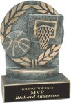Basketball - Wreath Resin Trophy Basketball Trophy Awards