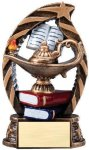 Bronze and Gold Lamp of Knowledge Award Bronze and Gold Star Resin Trophy Awards
