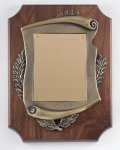 Walnut Cast Corporate Plaque Cast Relief Plaques