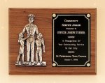 Police Award Casting on Walnut Plaque Cast Relief Plaques