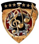 Music Medal Color Shield Medal Awards