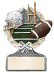 Football Multi Color Sport Resin Figure Football Trophy Awards
