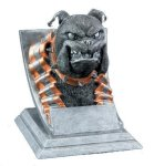 Bulldog Mascot Mascot Resin Trophy Awards