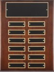 Walnut Perpetual Plaque Monthly Perpetual Plaques