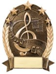 5 Star Oval Music Music Trophy Awards