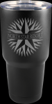 Vacuum Insulated Black Stainless Steel Mug with Clear Lid Promotional Mugs
