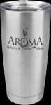 Vacuum Insulated Stainless Steel Tumbler with Clear Lid Promotional Mugs