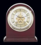 Plymouth Rosewood Piano Finish Desktop Clock Sales Awards