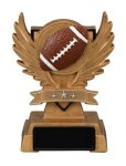 Football Victory Wing Resin Figure Scholastic Trophy Awards