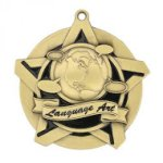 Language Arts Super Star Medal Scholastic Trophy Awards