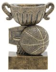 Sport Cup Basketball Antique Gold Sport Cup Resin Trophy Awards