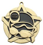 Swim Super Star Medal  Gold Super Star Medal Awards