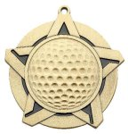 Golf Super Star Medal  Gold Super Star Medal Awards