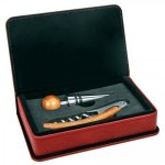 Rose' Leatherette 2 Piece Wine Tool Set Wine Gifts